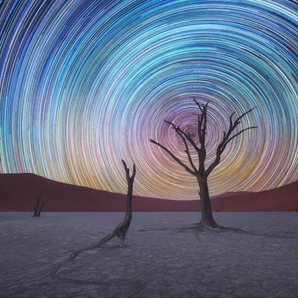 Gli Star Trail in Namibia di Daniel Kordan