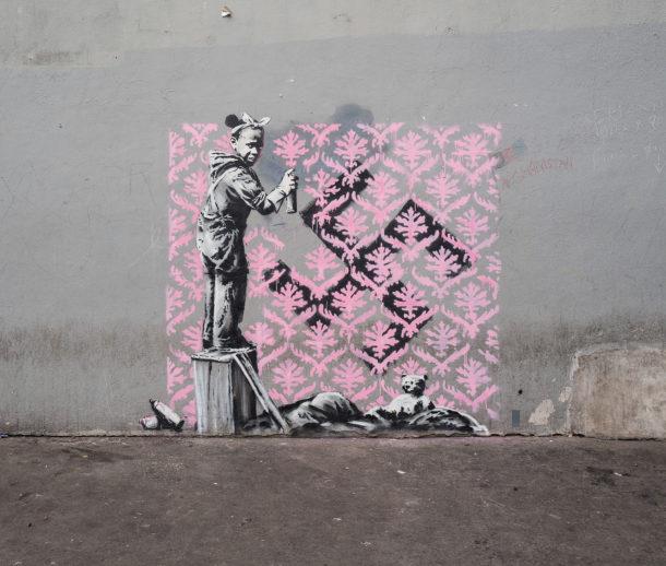 La street art di Banksy a Parigi