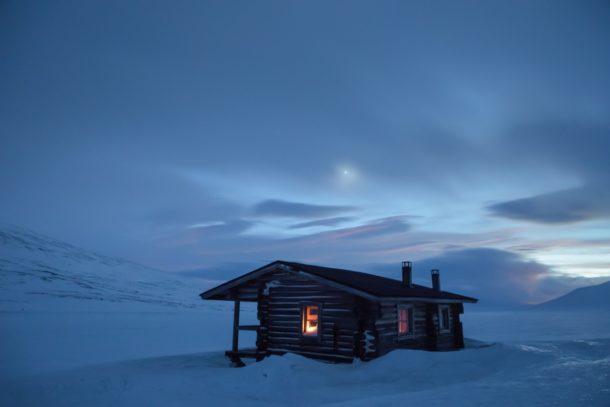 I solitari capanni immersi nella natura