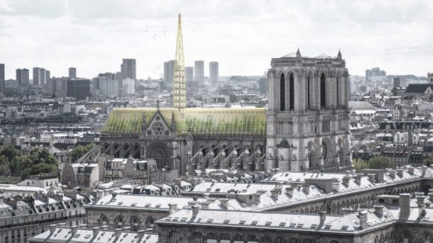 NOTRE DAME IN VERSIONE SERRA. IL PROGETTO GREEN DELLO STUDIO NAB